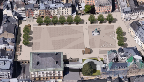 Place Guillaume II - projet