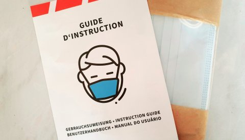 Illustration des masques et du guide d'instruction